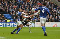 Swansea City's Andre Ayew has a shot at goal <br /> <br /> Photographer Ian Cook/CameraSport<br /> <br /> The EFL Sky Bet Championship - Cardiff City v Swansea City - Sunday 12th January 2020 - Cardiff City Stadium - Cardiff<br /> <br /> World Copyright © 2020 CameraSport. All rights reserved. 43 Linden Ave. Countesthorpe. Leicester. England. LE8 5PG - Tel: +44 (0) 116 277 4147 - admin@camerasport.com - www.camerasport.com
