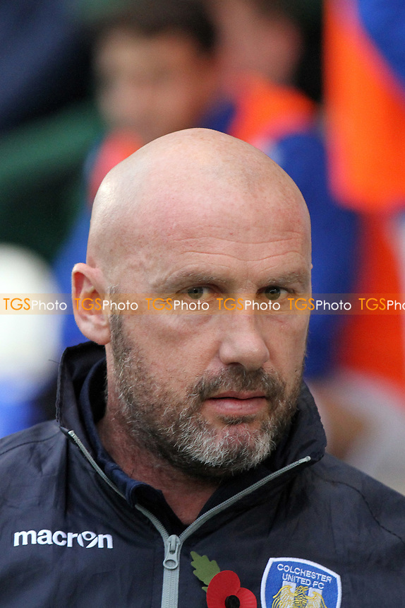 Colchester United manager John McGreal during Colchester United vs Oxford City, Emirates FA Cup Football at the Weston Homes Community Stadium on 4th November 2017