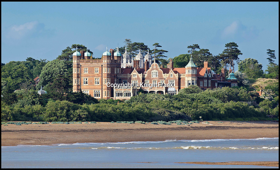 BNPS.co.uk (01202 558833)<br /> Pic: KnightFrank/BNPS<br /> <br /> Making waves - Seaside Suffolk mansion that was in the frontline of the top secret battle to protect London and defeat the Luftwaffe during WW2 is on the market.<br /> <br /> A stunning Grade II* listed coastal manor house which was Britain's first radar station and survived multiple Luftwaffe attacks is now up for grabs.<br /> <br /> Bawdsey Manor is a home fit for royalty - a grand 144-acre estate on the Suffolk coast with a mansion that looks like the Queen's much-loved Sandringham House nearby.<br /> <br /> The impressive property, which also comes with quayside cottages and even has its own beach access, is on the market with estate agents Knight Frank with a guide price of £5million.