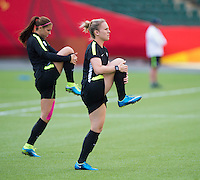Edmonton, Canada - June 20, 20115:  The USWNT trained in preparation for their round of 16 game in the FIFA Women's World Cup.