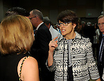 Author Kelly Corrigan talks with guests at the VIP Reception for the Celebration of Reading event at the Hobby Center Thursday  April 21,2016(Dave Rossman Photo)