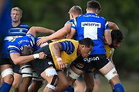 Anthony Perenise of Bath Rugby in action. Bath Rugby pre-season training on August 8, 2018 at Farleigh House in Bath, England. Photo by: Patrick Khachfe / Onside Images