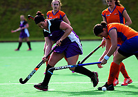 Action from the National Senior Women's Hockey Tournament 7th place playoff match between Tauranga and Southland at National Hockey Stadium in Wellington, New Zealand on Saturday, 23 October 2017. Photo: Dave Lintott / lintottphoto.co.nz