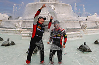 #31 Action Express Racing Cadillac DPi, P: Eric Curran, Felipe Nasr, Celebrate their win of the Chevrolet Sports Car Classic in the fountain