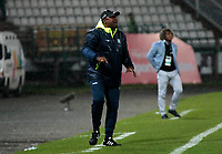 MANIZALES -COLOMBIA, 11-04-2018: Hubert Bodhert director técnico del Once Caldas.Acción de juego entre el Once Caldas y el Deportes Tolima  durante partido por la fecha 14 de la Liga Águila I 2018 jugado en el estadio Palogrande  de la ciudad de Manizales./ Hubert Bodhert coach of Once Caldas. Action game between Once Caldas and Deportes Tolima  during the match for the date 14 of the Aguila League I 2018 played at Palogrande  stadium in Manizales city. Photo: VizzorImage/ Santiago Osorio / Contribuidor
