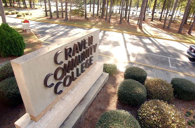 Craven Community College sign
