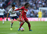 Renato Sanches of Swansea City is challenged by Son Heung-Min of Tottenham Hotspur during the premier league match at the Wembley Stadium, London. Picture date 16th September 2017. Picture credit should read: Robin Parker/Sportimage