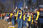 Jacob Davis, 12, of Lemon Valley, dances with a group of Sierra Nevada Academy students at a National School Choice rally on the Capitol grounds in Carson City, Nev., on Wednesday, Jan. 28, 2015. Several hundred supporters attended the Carson City event as part of a national effort to raise awareness of educational choices. <br /> Photo by Cathleen Allison