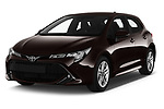 2019 Toyota Corolla Dynamic 5 Door Hatchback angular front stock photos of front three quarter view
