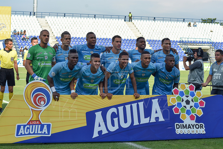 MONTERIA - COLOMBIA, 11-08-2019: Jugadores de Jaguares posan para una foto previo al partido por la fecha 5 de la Liga Águila II 2019 entre Jaguares de Córdoba F.C. y Deportivo Pasto jugado en el estadio Jaraguay de la ciudad de Montería. / Players of Jaguares pose to a photo prior the match for the date 5 as part Aguila League II 2019 between Jaguares de Cordoba F.C. and Deportivo Pasto played at Jaraguay stadium in Monteria city. Photo: VizzorImage / Andres Rios / Cont