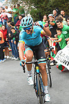 Manuele Boaro (ITA) Astana Pro Team on the final climb during Stage 12 of La Vuelta 2019 running 171.4km from Circuito de Navarra to Bilbao, Spain. 5th September 2019.<br /> Picture: Colin Flockton | Cyclefile<br /> <br /> All photos usage must carry mandatory copyright credit (© Cyclefile | Colin Flockton)