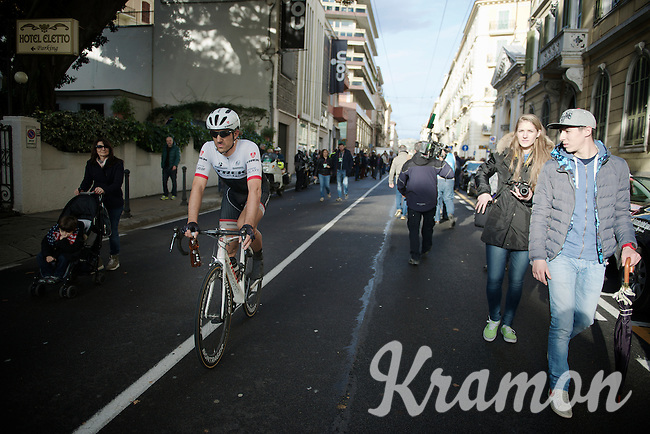 Fabian Cancellara (SUI/TREK Factory Racing) heading to the teambus after finishing<br /> <br /> 106th Milano - San Remo 2015