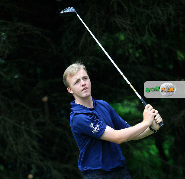 Thomas Mulligan (Co. Louth) on the 2nd tee during Round 3 of the Irish Boys Amateur Open Championship at Tuam Golf Club on Thursday 25th June 2015.<br /> Picture:  Thos Caffrey / www.golffile.ie