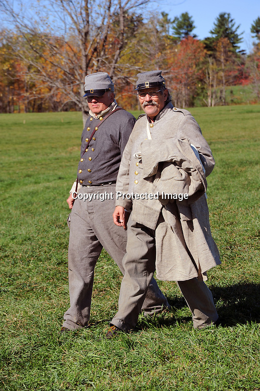 Civil War Reenactment Confederate Camp Soldiers
