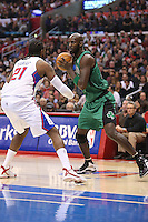 12/27/12 Los Angeles, CA: Boston Celtics power forward Kevin Garnett #5 during an NBA game between the Los Angeles Clippers and the Boston Celtics played at Staples Center. The Clippers defeated the Celtics 106-77 for their 15th straight win.