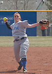 April 7, 2012:   San Jose State Spartans pitcher Amanda Pridmore throws against the Nevada Wolf Pack during their NCAA softball game played at Christina M. Hixson Softball Park on Saturday in Reno, Nevada.
