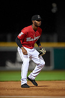 Billings Mustangs third baseman Jonathan Willems (5) during a Pioneer League game against the Grand Junction Rockies at Dehler Park on August 15, 2019 in Billings, Montana. Billings defeated Grand Junction 11-2. (Zachary Lucy/Four Seam Images)