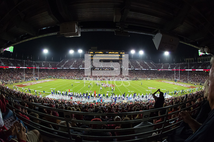 Stanford, CA - October 25, 2015: Stanford Stadium during the Stanford vs University of Washington football game at Stanford Stadium. The Cardinal defeated the Huskies 31-14.