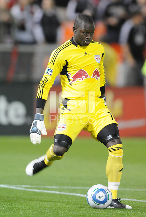 New York Red Bulls goalkeeper Bouna Coundoul (18)    The New York Red Bulls defeated DC United 4-0, at RFK Stadium, Saturday April 21, 2011.