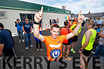 Shane Finn on Friday last who received a heroes welcome in Blennerville, Tralee, after his 23rd marathon.