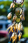 RANDALL'S ISLAND ISLAND, MANHATTEN - October 10, 2016:  A dream catcher catches the breeze at Monday's Indigenous Peoples Day Celebration.