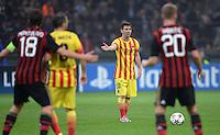 FUSSBALL  CHAMPIONS LEAGUE   SAISON 2013/2014   Vorrunde     AC Mailand - FC Barcelona       22.10.2013 Lionel Messi (Barca) beim Freistoss