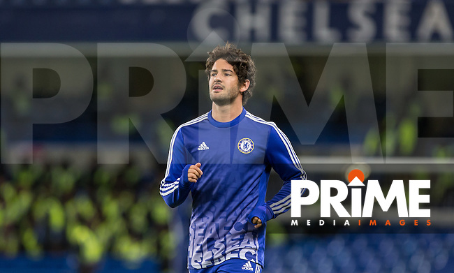 Alexandre Pato of Chelsea warms down during the FA Cup 5th round match between Chelsea and Manchester City at Stamford Bridge, London, England on 21 February 2016. Photo by Andy Rowland.