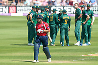 Ravi Bopara of Essex leaves the field having been dismissed by Stuart Broad during Essex Eagles vs Notts Outlaws, Royal London One-Day Cup Semi-Final Cricket at The Cloudfm County Ground on 16th June 2017