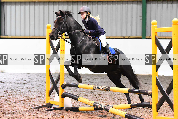 Stapleford Abbotts. United Kingdom. 03 November 2019. Class 5. Unaffiliated Showjumping championship show. Brook Farm training centre. Stapleford Abbotts. Essex. United Kingdom. Credit Melody Fisher/Sport in Pictures.~ 03/11/2019.  MANDATORY Credit Melody Fisher/SIP photo agency - NO UNAUTHORISED USE - 07837 394578