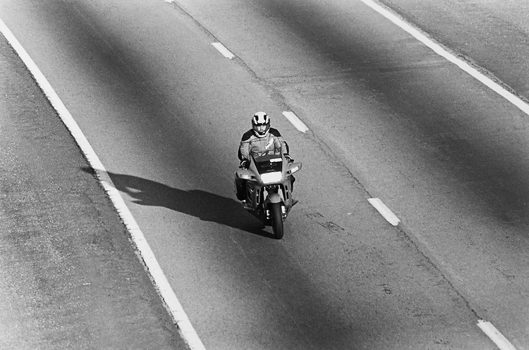 Motorbike on 395 - HOV Lane. (Photo by Maureen Keating/CQ Roll Call via Getty Images)