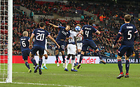 Tottenham Hotspur's Harry Kane scores his side's second goal with a header that deflected off PSV Eindhoven's Trent Sainsbury<br /> <br /> Photographer Rob Newell/CameraSport<br /> <br /> UEFA Champions League -Group B - Tottenham Hotspur v PSV Eindhoven - Tuesday 6th November 2018 - Wembley Stadium - London<br />  <br /> World Copyright © 2018 CameraSport. All rights reserved. 43 Linden Ave. Countesthorpe. Leicester. England. LE8 5PG - Tel: +44 (0) 116 277 4147 - admin@camerasport.com - www.camerasport.com