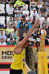 31.05.2015, Moskau, Vodny Stadion<br /> Moskau Grand Slam, Main Draw / Spiel Platz 3/4<br /> <br /> Block Jonathan Erdmann (#1 GER)<br /> <br />   Foto &copy; nordphoto / Kurth