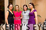 Mary Foley, Noelle O Sullivan, Susan McGillicuddy and Geraldine Cotter all enjoying the Lee Strand social on Saturday night at the Pavilion in Ballygarry House Hotel.