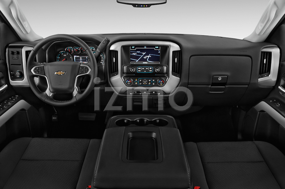 Stock photo of straight dashboard view of 2016 Chevrolet Silverado-3500HD LT-Crew-Cab-Long-Box-DRW 4 Door Pick-up Dashboard
