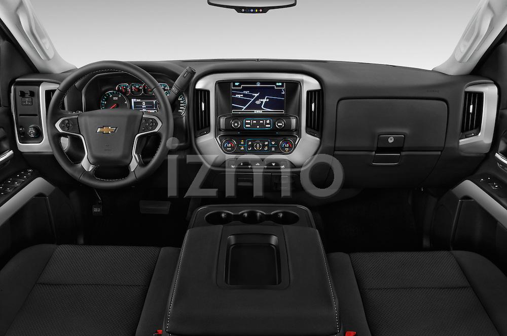 Stock photo of straight dashboard view of 2016 Chevrolet Silverado-3500HD LT-Crew-Cab-Long-Box-DRW 4 Door Pick-up Dashboard