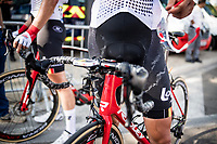salty Tiesj Benoot (BEL/Lotto-Soudal) at the finish line in Nîmes after a stage in the scorching heat (up to 36°C)<br /> <br /> Stage 16: Nîmes to Nîmes (177km)<br /> 106th Tour de France 2019 (2.UWT)<br /> <br /> ©kramon