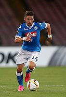 Napoli's Dries Mertens controls the ball during the Europa  League Group D soccer match against Brugge  at the San Paolo  Stadium in Naples September 17, 2015