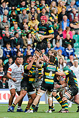 9th September 2017, Franklins Gardens, Northampton, England; Aviva Premiership Rugby, Northampton Saints versus Leicester Tigers; Christian Day of Northampton Saints wins a line out