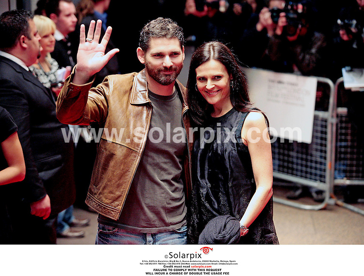 **ALL ROUND PICTURES FROM SOLARPIX.COM**.**PLEASE NOTE UK RESTRICTIONS - NO UK NEWSPAPER PUBLICATION - UK MAGAZINES ONLY**.**NO PUBLICATION IN FRANCE, SCANDANAVIA, AUSTRALIA AND GERMANY** ..Eric Bana and wife Rebbeca Gleeson arrive at the UK Gala screening of the movie Bobby which tells the story of the assassination of U.S. Senator Robert F. Kennedy, on June 6th, 1968, which centers around 22 people who were at the Ambassador Hotel where he was killed...DATE: 26/10/2006-JOB REF: 2983-SFE.**MUST CREDIT SOLARPIX.COM OR DOUBLE FEE WILL BE CHARGED**