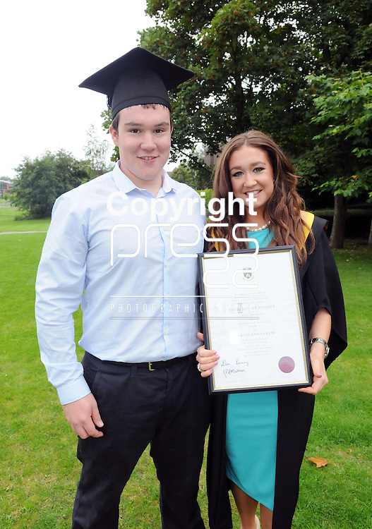 27/8/2014  With Compliments.  Attending the University of Limerick conferrings were Mariah Curtin, Knock na Goshel, Co.Kerry, conferred with a BSc in Psychology, with brother Daragh Curtin.<br /> Picture Gareth Williams/Press 22