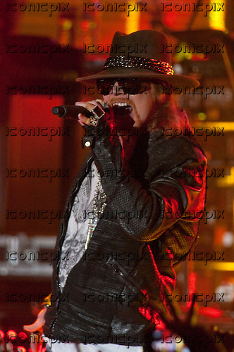 GUNS N' ROSES - Axl Rose performing live in at the Palladium in Hollywood, CA USA - March 9, 2012. Photo © Kevin Estrada / Iconicpix