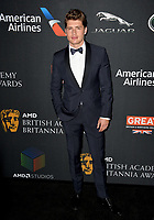 Gregg Sulkin at the 2017 AMD British Academy Britannia Awards at the Beverly Hilton Hotel, USA 27 Oct. 2017<br /> Picture: Paul Smith/Featureflash/SilverHub 0208 004 5359 sales@silverhubmedia.com
