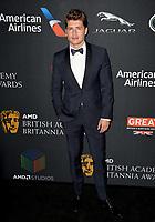 Gregg Sulkin at the 2017 AMD British Academy Britannia Awards at the Beverly Hilton Hotel, USA 27 Oct. 2017<br /> Picture: Paul Smith/Featureflash/SilverHub 0208 004 5359 sales@silverhubmedia.com