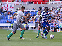 Reading's Andy Yiadom (right) under pressure from Blackburn Rovers' Greg Cunningham (centre) and Adam Armstrong (left) <br /> <br /> Photographer David Horton/CameraSport<br /> <br /> The EFL Sky Bet Championship - Reading v Blackburn Rovers - Saturday 21st September 2019 - Madejski Stadium - Reading<br /> <br /> World Copyright © 2019 CameraSport. All rights reserved. 43 Linden Ave. Countesthorpe. Leicester. England. LE8 5PG - Tel: +44 (0) 116 277 4147 - admin@camerasport.com - www.camerasport.com