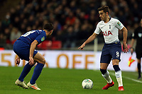 Harry Winks of Tottenham Hotspur and Cesar Azpilicueta of Chelsea during Tottenham Hotspur vs Chelsea, Caraboa Cup Football at Wembley Stadium on 8th January 2019