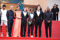 Tonya Lewis Lee, Satchel Lee, Jackson Lee, Director Spike Lee wears knuckle rings with love and hate on them, actress Laura Harrier, and John David Washington attend the screening of 'Blackkklansman' during the 71st annual Cannes Film Festival at Palais des Festivals on May 14, 2018 in Cannes, France. <br /> CAP/GOL<br /> &copy;GOL/Capital Pictures