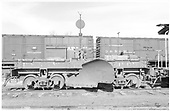 Side view of D&amp;RGW flanger #OD in Salida yards.<br /> D&amp;RGW  Salida, CO  Taken by Richardson, Robert W. - 4/16/1952