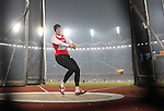 Delhi 2010 Commonwealth Games.Carys Parry (Wales) makes her final silver medal winning hammer throw..07.10.10.Photo Credit-Steve Pope-Sportingwales.