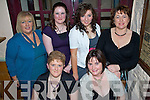 Night Out - Staff from McGuire's Shop, Ardfert, having a wonderful Xmas night out in Kate Browne's Pub on Saturday night. Seated l/r Doreen Dunne and Mary Fitzgerald, standing l/r  Helena Porter, Patricia Lucid, Emer Kennelly and Juliette McCrohan.................................................................................................. ............   Copyright Kerry's Eye 2008