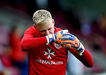 Aaron Ramsdale of Sheffield Utd during the English League One match at Glanford Park Stadium, Scunthorpe. Picture date: September 24th, 2016. Pic Simon Bellis/Sportimage
